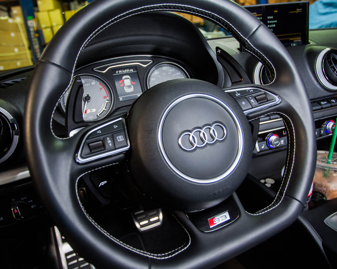 Carbon Fiber Look Paddle Shift Extensions For Audi A1 A3 S3 RS3 A4 A5 A6 A7 RS5