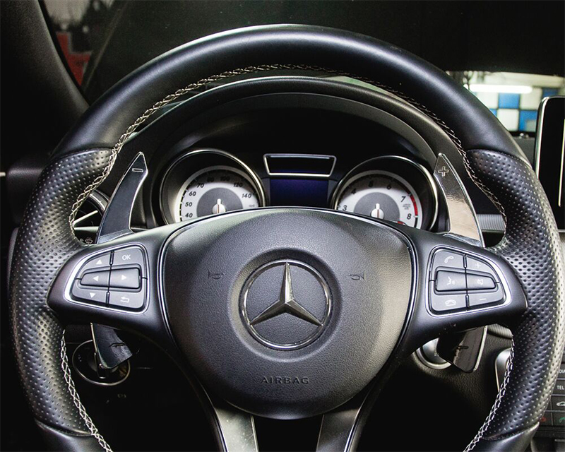 Agency Power Paddle Shifter Extensions Bright Silver Mercedes Benz